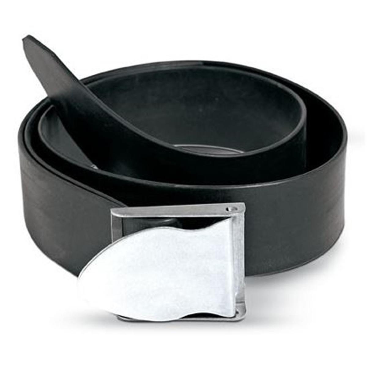 cintura gomma nera f/inox