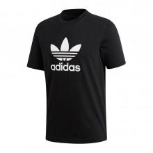 Adidas Originals Cw0709 T-shirt Trefoil Nera Sport Style Uomo