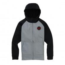 Burton 13757110 Felpa Full Zip Con Cappuccio Crow Bonded Bambino Abbigliamento Snowboard Bambino