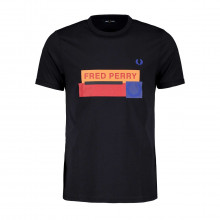 Fred Perry M8623 T-shirt Mixed Graphic Casual Uomo