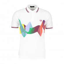 Fred Perry M8632 Polo Abstract Sport Casual Uomo