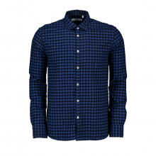Hang On M43a469 Camicia In Madras Con Dettagli In Seta Vichy Casual Uomo