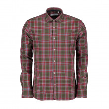 Hang On M43aa461 Camicia In Madras Con Dettagli In Seta Casual Uomo