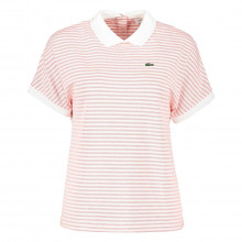 Lacoste Pf5763 Polo Rigata Collo Contrasto Donna Casual Donna