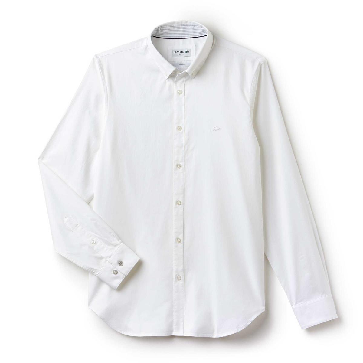Camicia slim in oxford leggero pin point