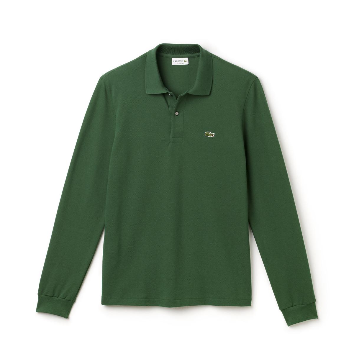 Polo manica lunga L1312 verde