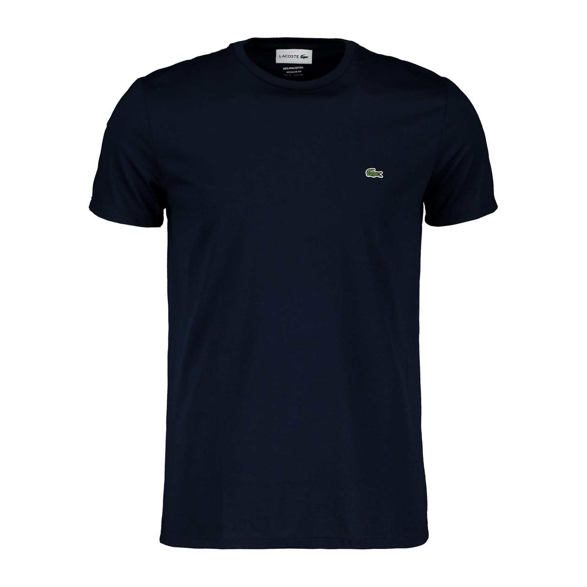 lacoste t-shirt logo in cotone pima blu uomo