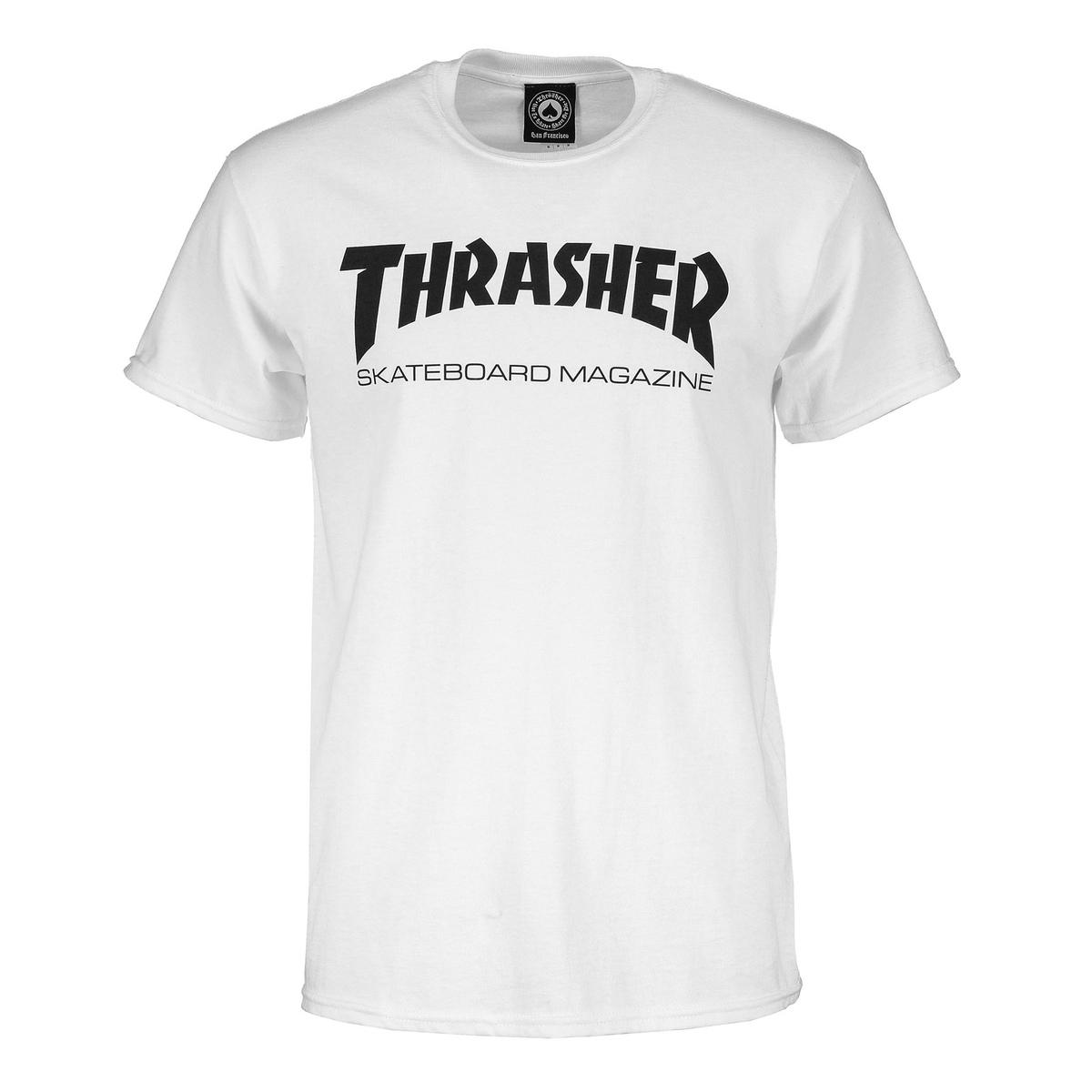 T-shirt Thrasher Skate Mag bianca
