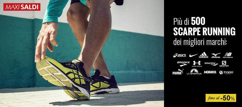 Saldi anticipati scarpe running