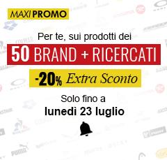 Extra Sconto -20% sui 50 Brand più Ricercati