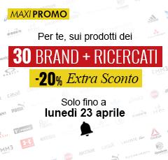 Extra Sconto -20% sui 30 Brand più Ricercati