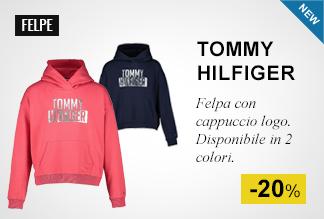 Felpa con cappuccio logo Tommy Hilfiger -20%