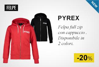 Felpa full zip con cappuccio Pyrex -20%