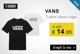 T-shirt classic logo Vans a soli 14,95 euro