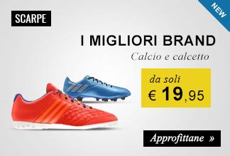 Scarpe calcio e calcetto a partire da soli € 19,95