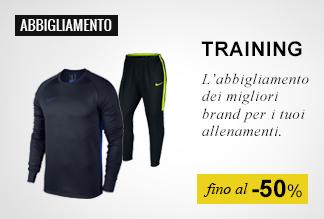 Abbigliamento training fino al -50%