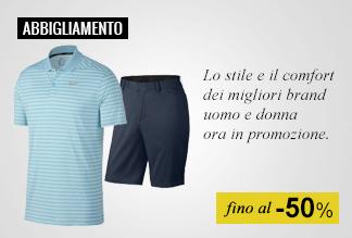 Abbigliamento golf fino a -50%