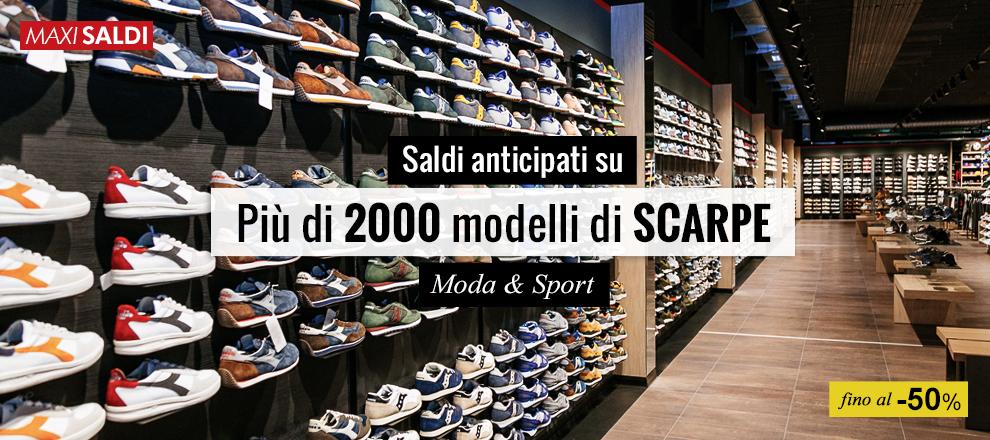 Saldi anticipati su più di 200 scarpe Moda & Sport