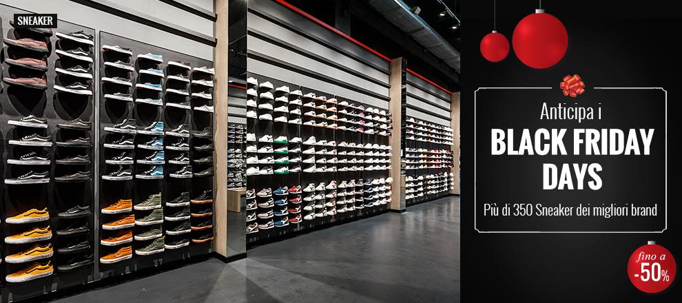 Anticipa i Black Friday Days su più di 350 Sneaker -40% e -50%