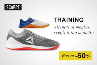 Scarpe training fino a -50%
