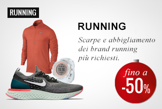 Anticipa il Black Friday: Running -40% e -50%