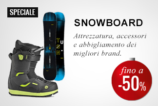Anticipa il Black Friday: Snowboard -40% e -50%