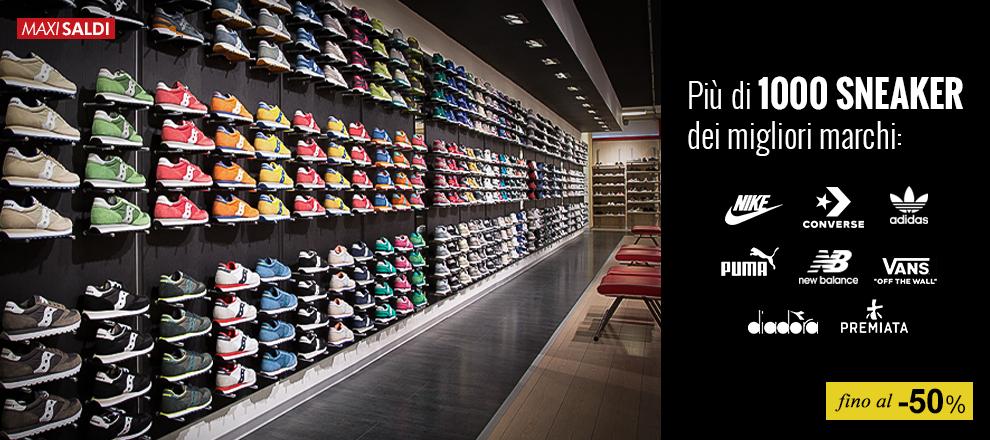 Maxi Saldi Sneaker: Più di 1000 modelli uomo, donna e bambino fino a -50%