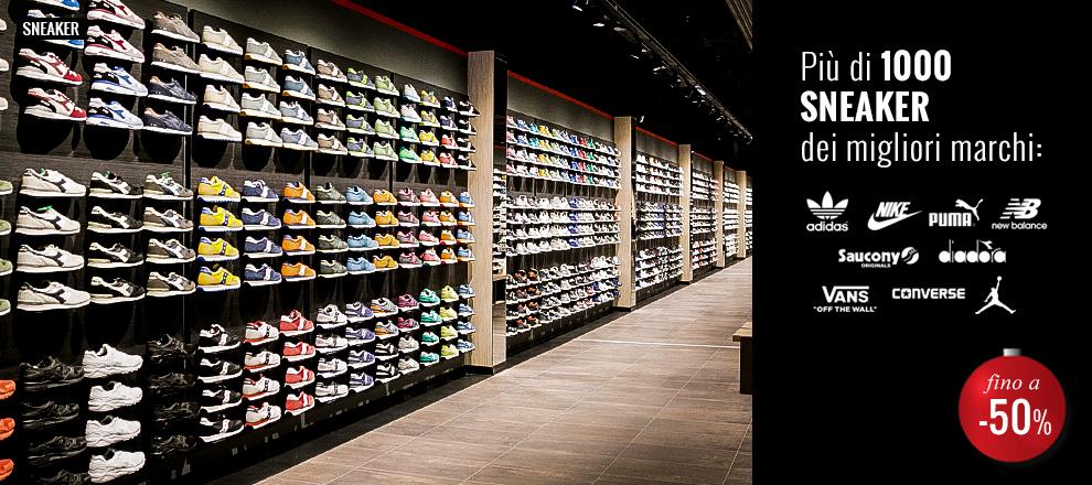 Più di 1000 Sneaker dei migliori marchi in Maxi promozione