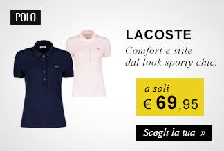 Collezione Polo Lacoste a soli 69.95 euro