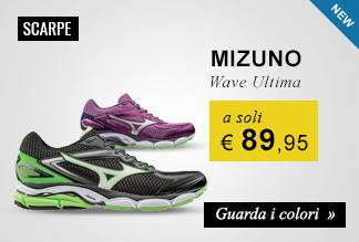 Mizuno Wave Ultima Uomo e Donna a soli €89,95