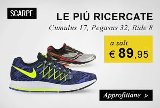Scarpe running a soli €89,90