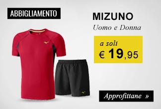 Abbigliamento Mizuno a soli €19,95
