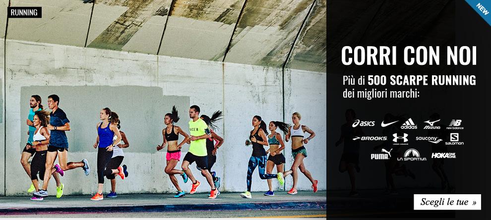 Corri con Noi! Più di 500 scarpe running dei migliori marchi