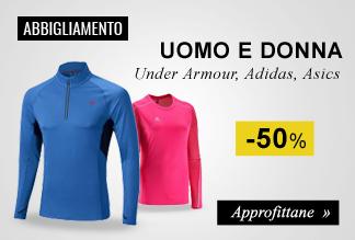 Abbigliamento running uomo e donna a -50%