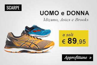Scarpe running a soli € 89,95