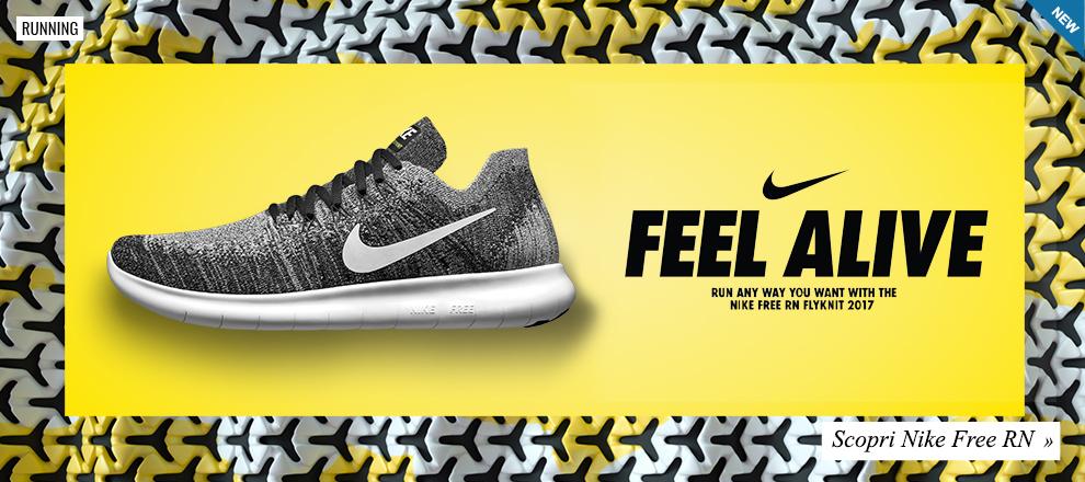 Collezione scarpe running Nike Free RN
