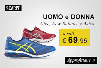Scarpe running a soli € 69,95