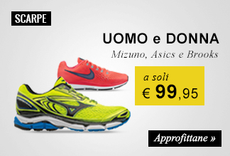 Scarpe running a soli € 99,95