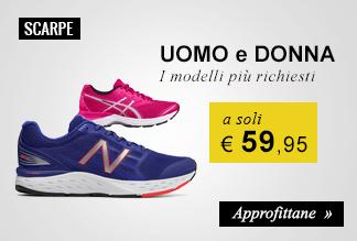 Scarpe running a soli € 59,95