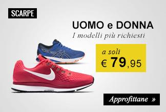Scarpe running a soli € 79,95