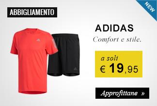 Adidas abbigliamento running a soli 19,95 euro