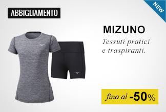 Mizuno abbigliamento running a soli 19,95 euro