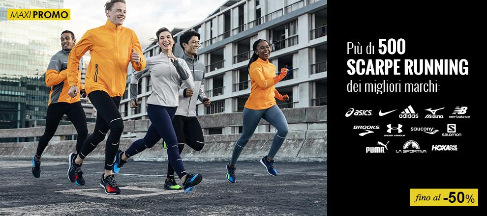 Scarpe running in maxi promozione