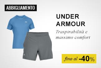 Abbigliamento Under Armour Running fino a -40%