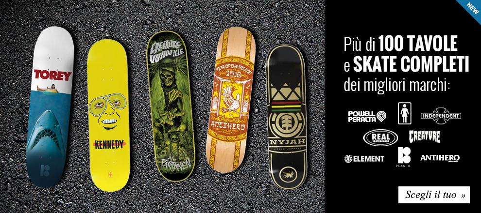 Skateboard e Longboard dei migliori marchi