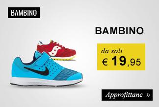 Sneaker Bambino e Baby da soli € 19,95