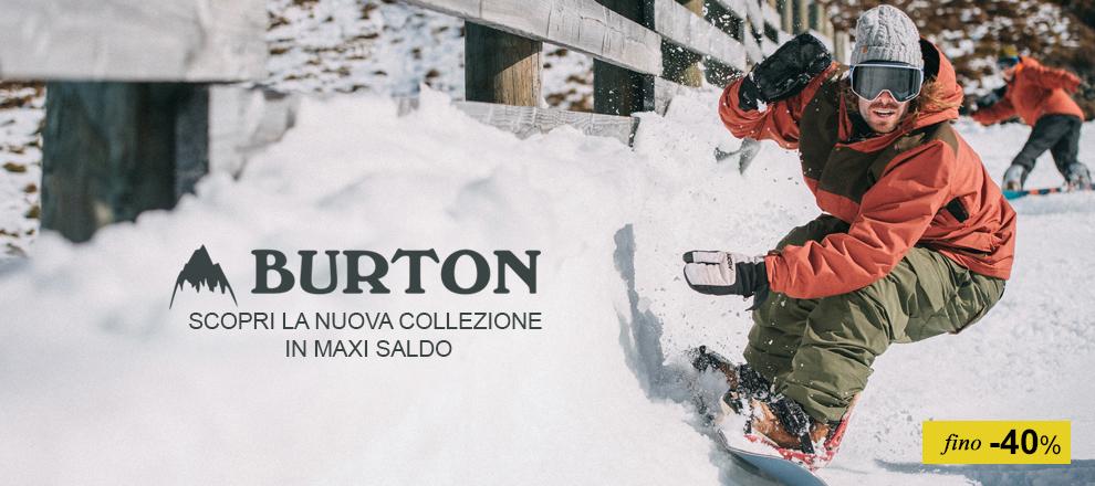 Maxi Saldi Collezione Burton Snowboards 2016 / 2017 fino -40%