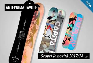 Anteprime tavole snowboard 2017/2018