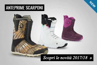 Anteprima scarponi snowbaord 2017/2018