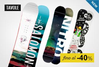 Tavole Snowboard fino a -40%